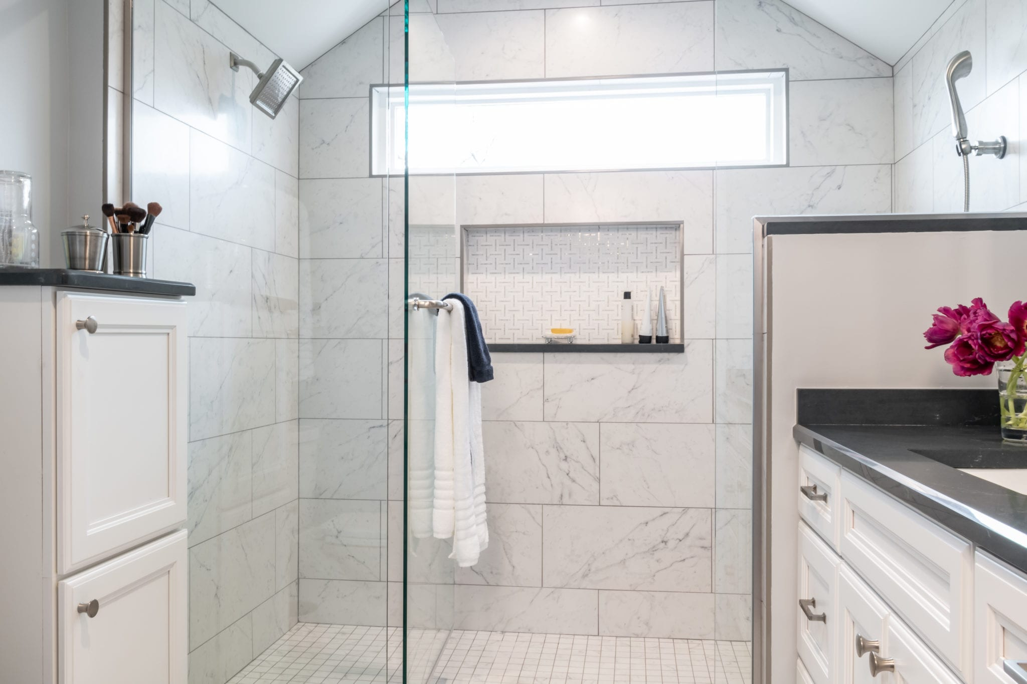 Bathroom Remodel with Open Shower