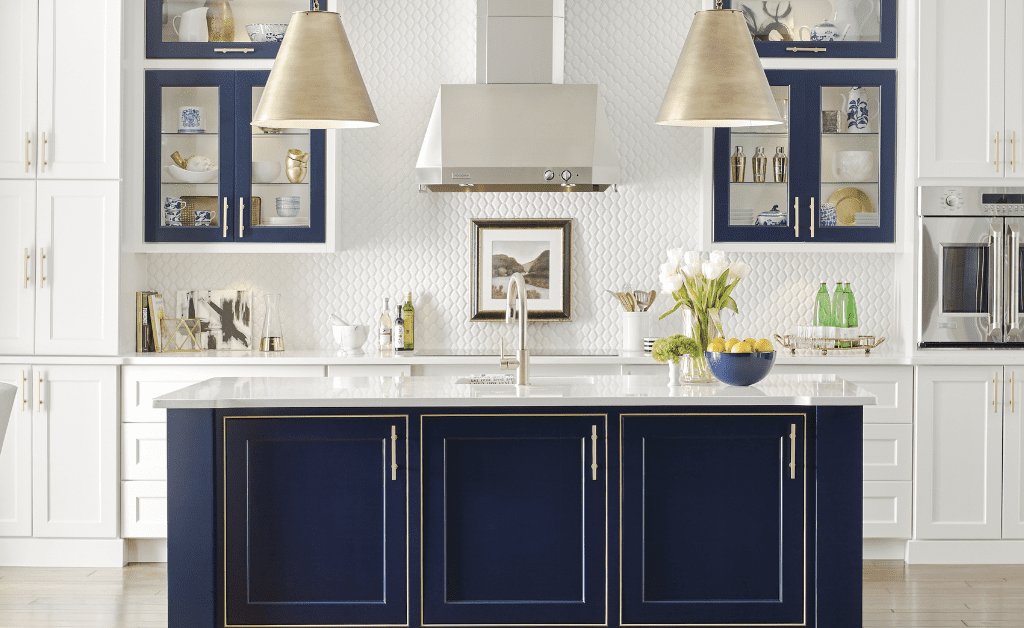 Blue Island and Stainless Hardware